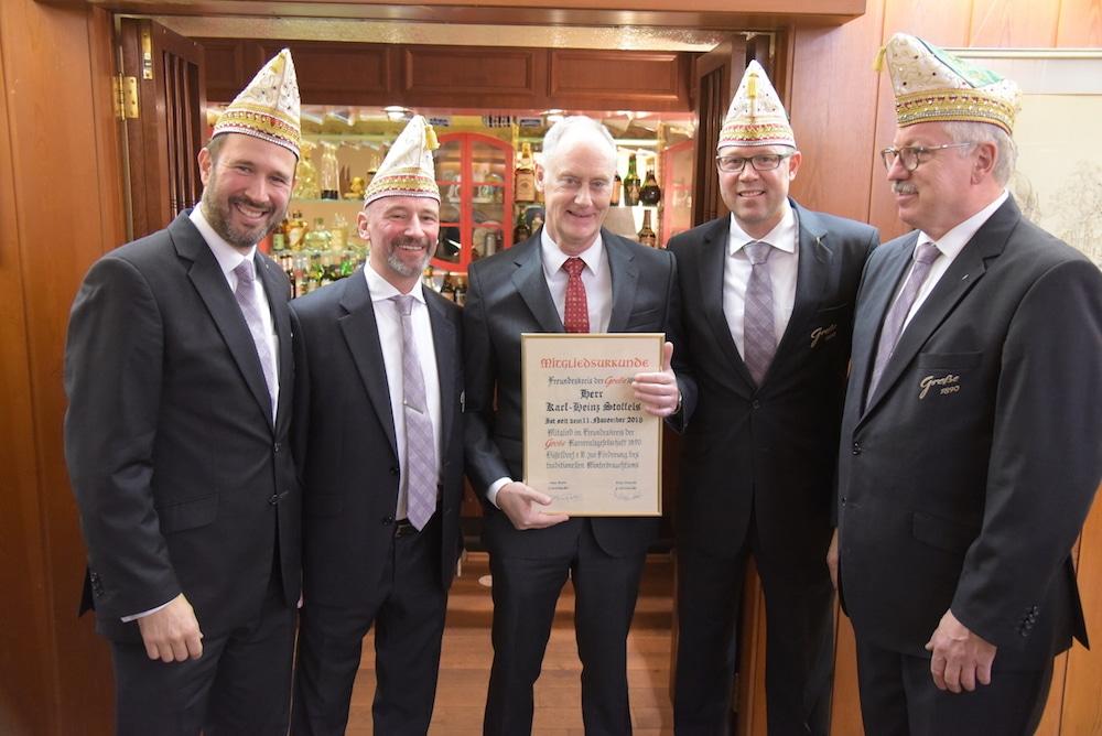 GROßE Freundeskreis Mitglied Karl-Heinz Stoffels