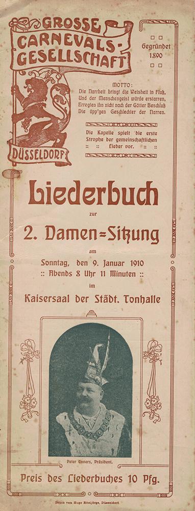 GROßE 1890 Liederbuch von 1910