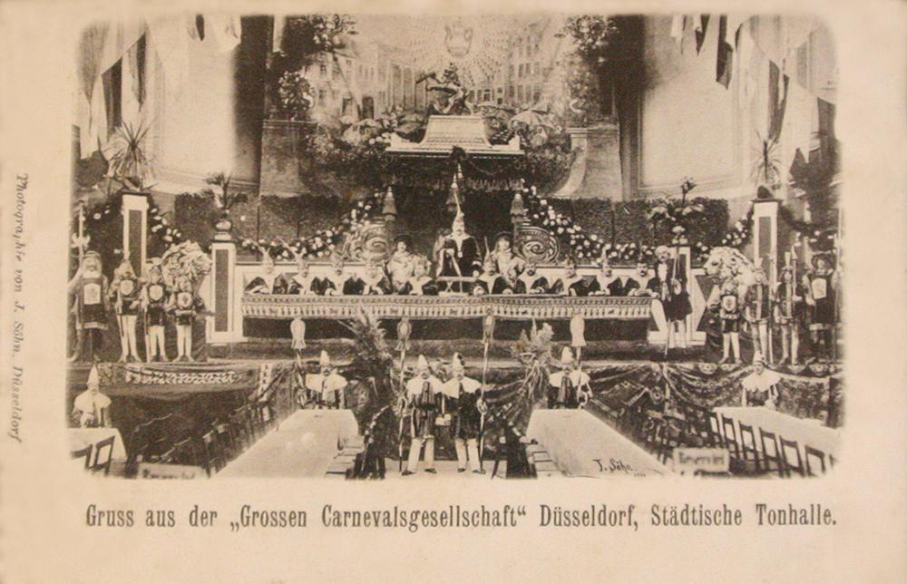 Grosse 1890 Sitzung Tonhalle 1900 Düsseldorf