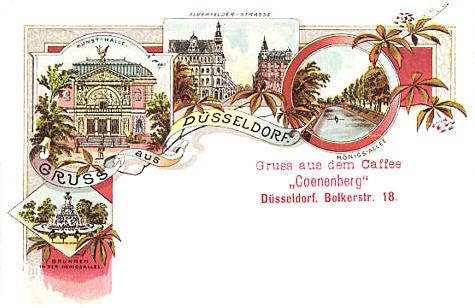 Grosse 1890 Gründung Caffee Coenenberg Bolkerstrasse 18 Düsseldorf