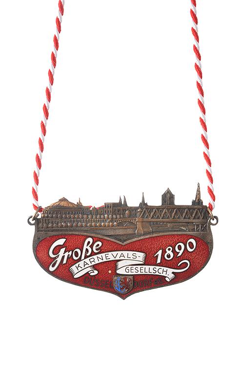 GROßE 1890 Düsseldorf Karneval Orden 1949
