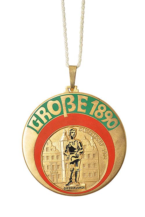 GROßE 1890 Düsseldorf Karneval Orden 1972