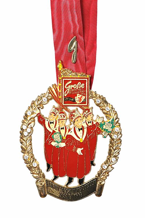 GROßE 1890 Düsseldorf Karneval Orden 1993
