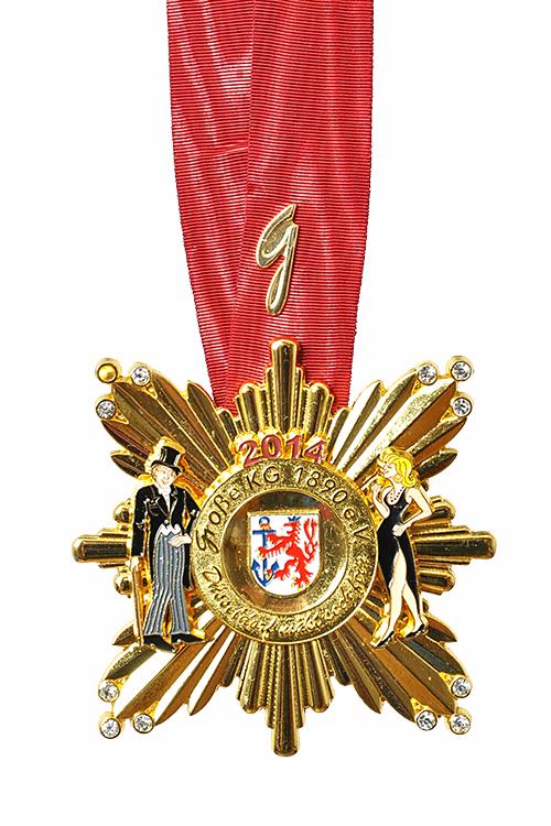 GROßE 1890 Düsseldorf Karneval Orden 2014