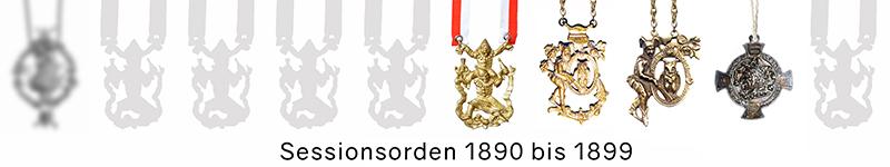 Grosse 1890 Karneval Orden 1890 bis 1899