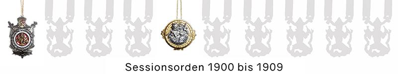 Grosse 1890 Karneval Orden 1900 bis 1909