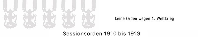 Grosse 1890 Karneval Orden 1910 bis 1919