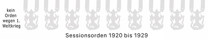 Grosse 1890 Karneval Orden 1920 bis 1929