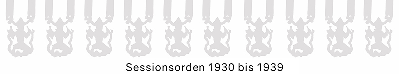 Grosse 1890 Karneval Orden 1930 bis 1939
