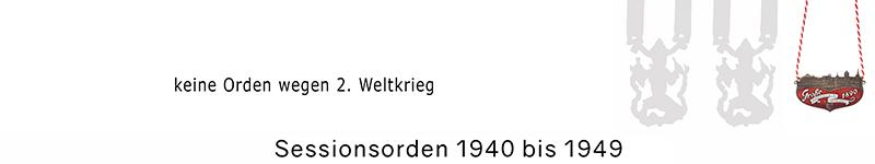 Grosse 1890 Karneval Orden 1940 bis 1949