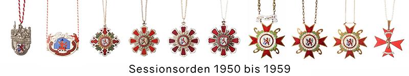 Grosse 1890 Karneval Orden 1950 bis 1959