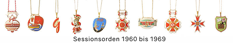 Grosse 1890 Karneval Orden 1960 bis 1969
