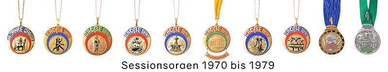 Grosse 1890 Karneval Orden 1970 bis 1979