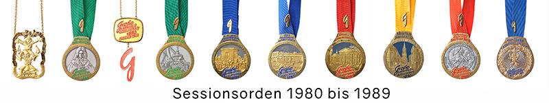 Grosse 1890 Karneval Orden 1980 bis 1989