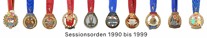 Grosse 1890 Karneval Orden 1990 bis 1999