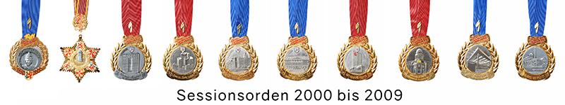 Grosse 1890 Karneval Orden 2000 bis 2009