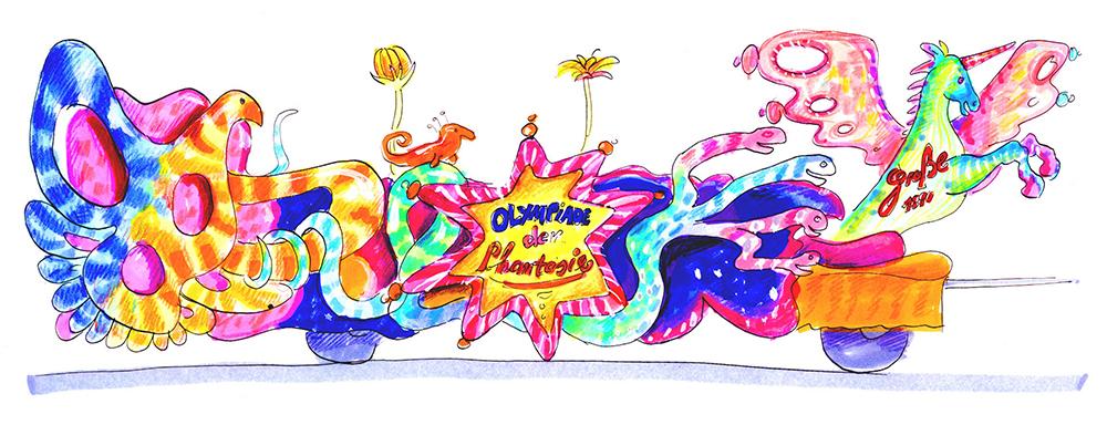 GROßE 1890 Rosenmontagswagen 2002 Karneval Düsseldorf