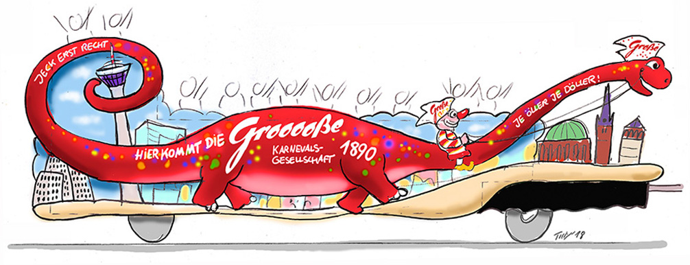 GROßE 1890 Rosenmontagswagen 2014