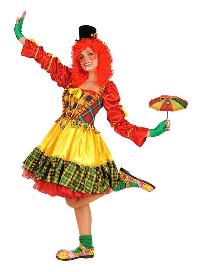 Grosse 1890 Tipp Clown Karneval Kostüm für Damen