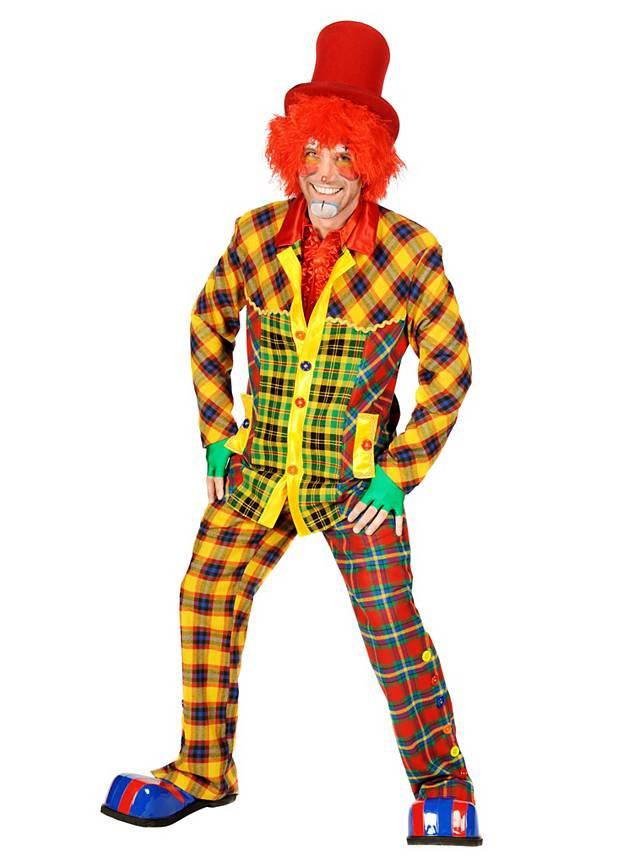 Grosse 1890 Tipp Clown Karneval Kostüm für Herren