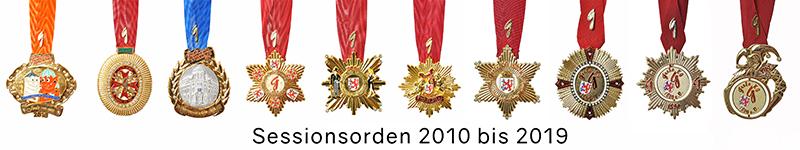 Grosse 1890 Karneval Orden 2010 bis 2019