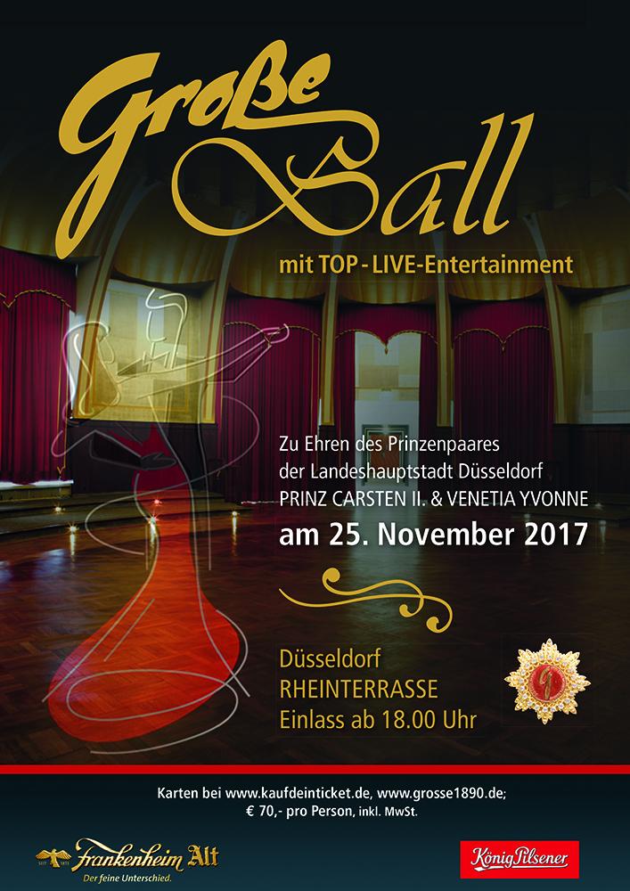 GROßE-Ball. Der Ball zu Ehren des Prinzenpaares Carsten Gossmann und Yvonne Stegel 2017 in Düsseldorf!