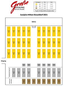 Tischplan Grosse Sitzung Rheinlandsaal Hilton